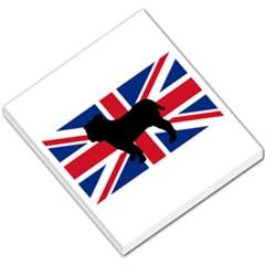 Bulldog Silhouette on flag Small Memo Pads