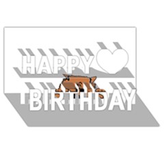 Peeping Pomeranian Happy Birthday 3D Greeting Card (8x4)