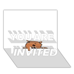 Peeping Pomeranian YOU ARE INVITED 3D Greeting Card (7x5)