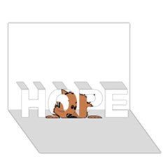 Peeping Pomeranian HOPE 3D Greeting Card (7x5)