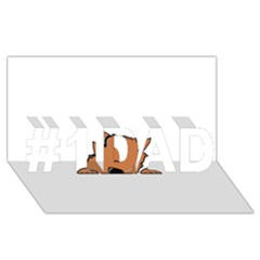 Peeping Pomeranian #1 DAD 3D Greeting Card (8x4)