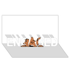 Peeping Pomeranian ENGAGED 3D Greeting Card (8x4)