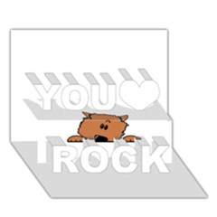 Peeping Pomeranian You Rock 3D Greeting Card (7x5)