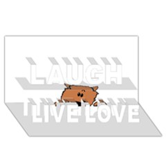 Peeping Pomeranian Laugh Live Love 3D Greeting Card (8x4)