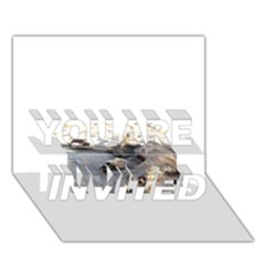 Cairn Terrier Sleeping On Beach YOU ARE INVITED 3D Greeting Card (7x5)