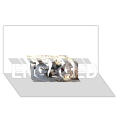Cairn Terrier Sleeping On Beach ENGAGED 3D Greeting Card (8x4)