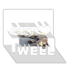Cairn Terrier Sleeping On Beach Get Well 3D Greeting Card (7x5)