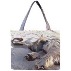 Cairn Terrier Sleeping On Beach Tiny Tote Bags