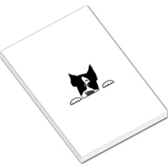 Peeping Boston Terrier Large Memo Pads
