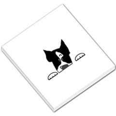 Peeping Boston Terrier Small Memo Pads