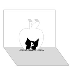 Peeping Boston Terrier Apple 3D Greeting Card (7x5)