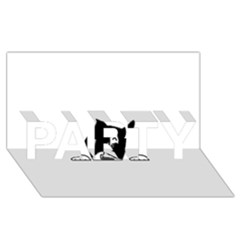 Peeping Boston Terrier PARTY 3D Greeting Card (8x4)