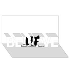 Peeping Boston Terrier Believe 3d Greeting Card (8x4)