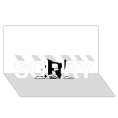 Peeping Boston Terrier SORRY 3D Greeting Card (8x4)