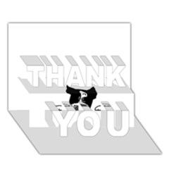 Peeping Boston Terrier THANK YOU 3D Greeting Card (7x5)