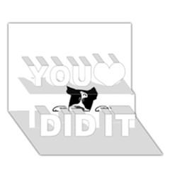 Peeping Boston Terrier You Did It 3D Greeting Card (7x5)
