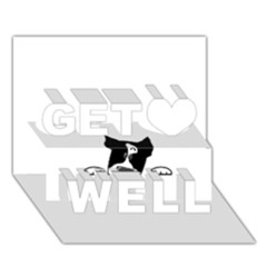 Peeping Boston Terrier Get Well 3d Greeting Card (7x5)