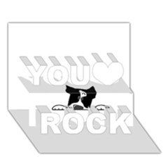 Peeping Boston Terrier You Rock 3D Greeting Card (7x5)
