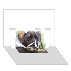 Cane Corso I Love You 3D Greeting Card (7x5)