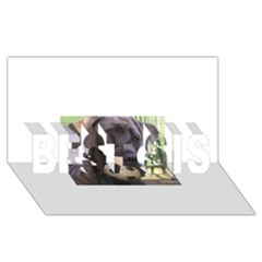 Cane Corso BEST SIS 3D Greeting Card (8x4)
