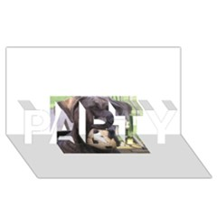 Cane Corso PARTY 3D Greeting Card (8x4)
