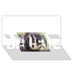 Cane Corso BELIEVE 3D Greeting Card (8x4)