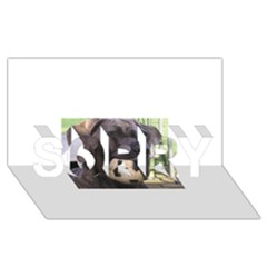 Cane Corso SORRY 3D Greeting Card (8x4)