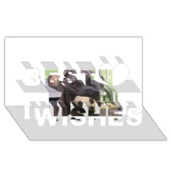 Cane Corso Best Wish 3D Greeting Card (8x4)