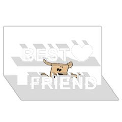 Peeping Chihuahua Best Friends 3d Greeting Card (8x4)