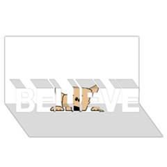 Peeping Chihuahua BELIEVE 3D Greeting Card (8x4)