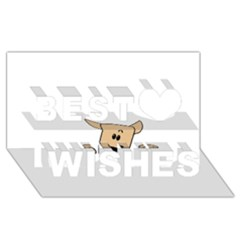 Peeping Chihuahua Best Wish 3D Greeting Card (8x4)