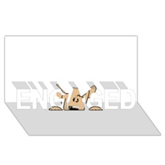 Peeping Chihuahua ENGAGED 3D Greeting Card (8x4)