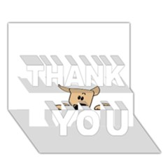 Peeping Chihuahua THANK YOU 3D Greeting Card (7x5)