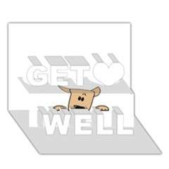 Peeping Chihuahua Get Well 3D Greeting Card (7x5)