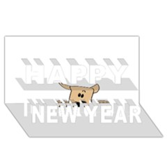 Peeping Chihuahua Happy New Year 3D Greeting Card (8x4)