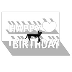 Cirneco Delletna Silhouette Happy Birthday 3D Greeting Card (8x4)