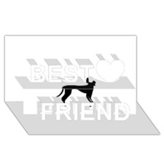 Cirneco Delletna Silhouette Best Friends 3D Greeting Card (8x4)