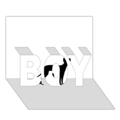 Cirneco Delletna Silhouette BOY 3D Greeting Card (7x5)