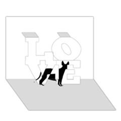 Cirneco Delletna Silhouette LOVE 3D Greeting Card (7x5)