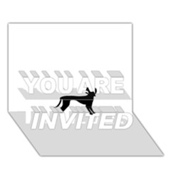 Cirneco Delletna Silhouette You Are Invited 3d Greeting Card (7x5)