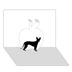 Cirneco Delletna Silhouette Apple 3D Greeting Card (7x5)