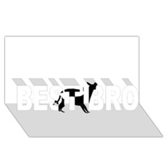 Cirneco Delletna Silhouette BEST BRO 3D Greeting Card (8x4)