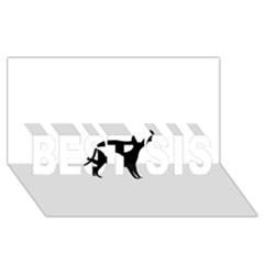 Cirneco Delletna Silhouette BEST SIS 3D Greeting Card (8x4)
