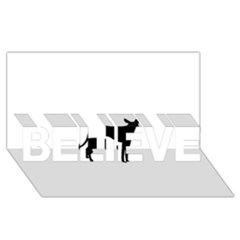 Cirneco Delletna Silhouette BELIEVE 3D Greeting Card (8x4)