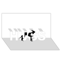 Cirneco Delletna Silhouette HUGS 3D Greeting Card (8x4)