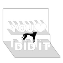 Cirneco Delletna Silhouette You Did It 3D Greeting Card (7x5)