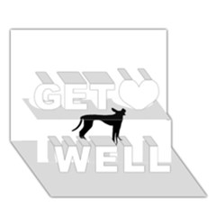 Cirneco Delletna Silhouette Get Well 3D Greeting Card (7x5)