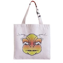 Angry Monster Portrait Drawing Zipper Grocery Tote Bags