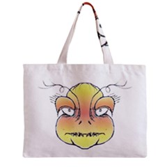 Angry Monster Portrait Drawing Zipper Tiny Tote Bags