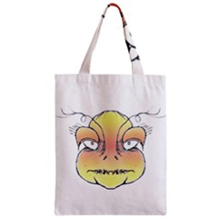 Angry Monster Portrait Drawing Zipper Classic Tote Bags